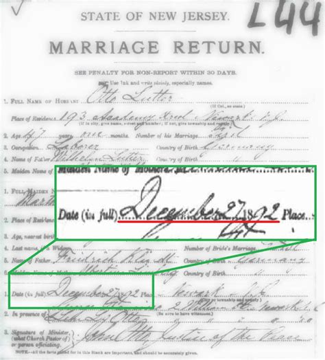 Newark Nj Marriage Records Family History Research By Jody Baby Before Marriage 1892