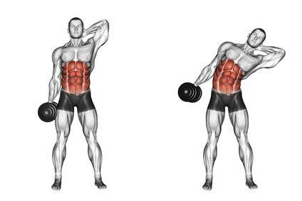 bauchmuskeln trainieren zu hause seitliche bauchmuskeln trainieren foto der 220 bung