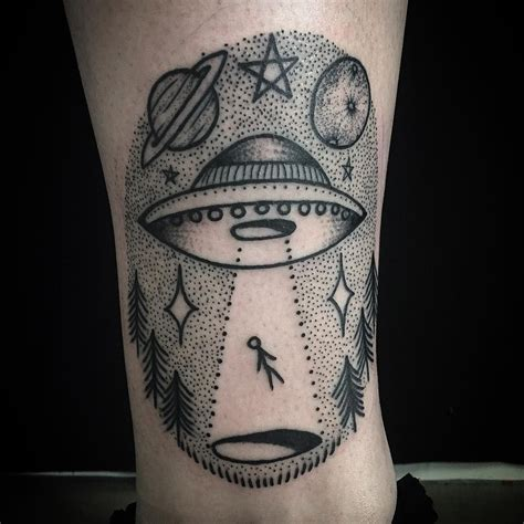 ufo tattoo ufo abduction by jerome chapman at 198 in brisbane