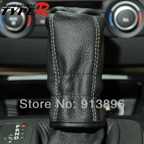 Leather Shift Knob Cover by Typer Universal Car Leather Manual Gear Shift Knob Cover