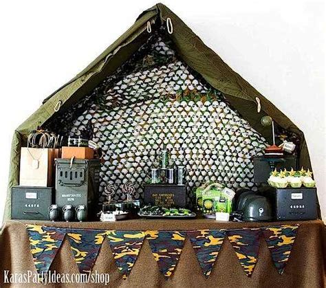 army themed decorations kara s ideas army camouflage themed birthday