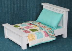 Bed With Quilt Doll Bed With Bedding Patchwork Quilt