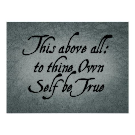 to thine own self be true tattoo to thine own self be true poster zazzle