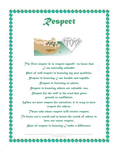 23 best respect quotes for kids images on pinterest 42 best images about respect in middle childhood on