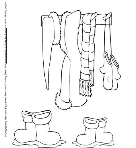 clothes coloring pages preschool www preschoolcoloringbook com winter coloring page