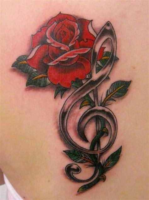 single rose tattoos designs treble clef tattoos