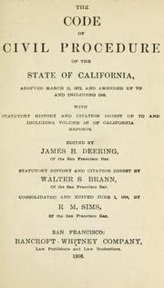 california civil code section 1946 california civil procedure before trial california civil