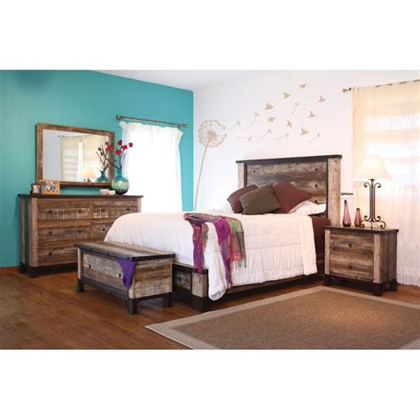 rustic  piece king bedroom set antique rc willey furniture store