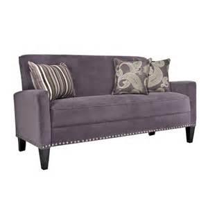 purple velvet sofa angelo home purple velvet sofa by angelo home fab