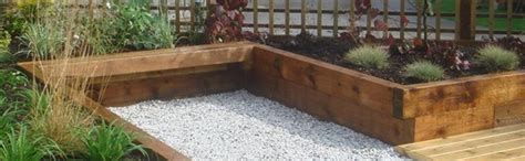 Laying Garden Sleepers by How To Lay Railway Sleepers In The Garden Landscaping