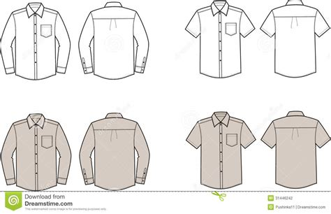 corporate shirt template vector shirts stock photography image 31446242