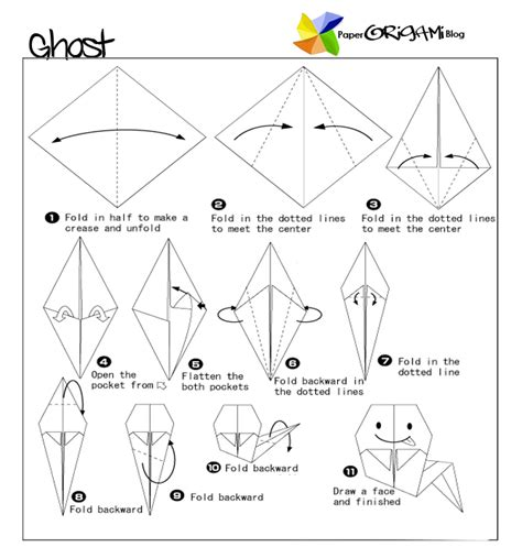 How To Make Paper Ghost For - origami ghost paper origami guide