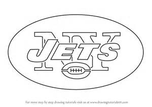 New York Jets Coloring Pages learn how to draw new york jets logo nfl step by step