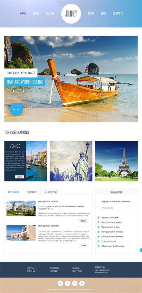 html templates for tourism website free download 10 best free travel hotel html5 templates designmaz