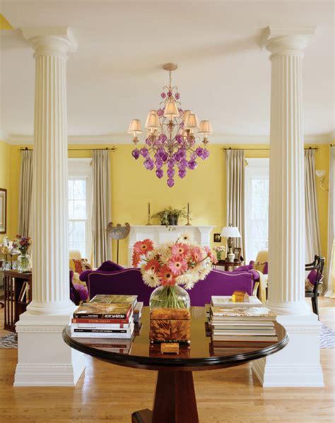 purple and yellow living room corbett venetian