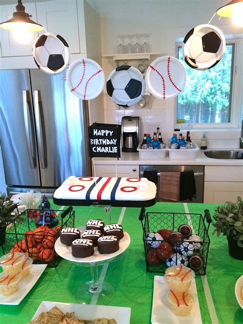 themed party house sports themed birthday parties home party ideas