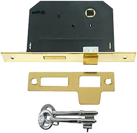 Standard Interior Door Replacement Key Standard Mortise Lock With Strike Plate And 2 1 4 Quot Backset In Bright Brass House Of