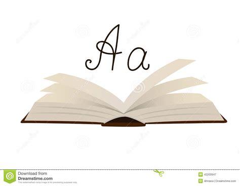 libro 440 la barraca letras un libro abierto con la letra a ilustraci 243 n del vector imagen 42200947