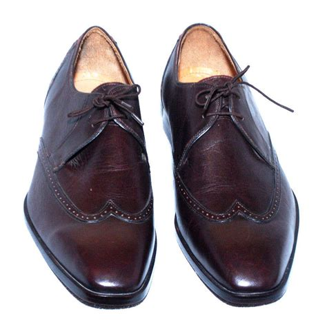 Mens Leather Shoes Handmade - handmade mens brown derby oxford leather sole dress shoes