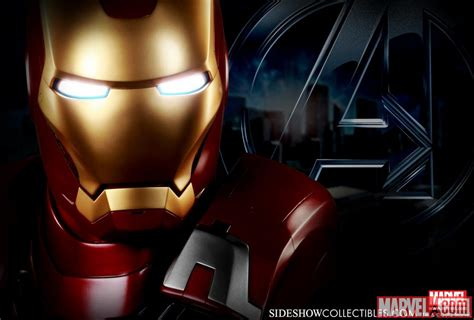 marvel iron man mark vii life size bust by sideshow avengers iron man mark vii life sized bust