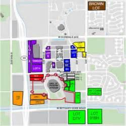 of arizona stadium map bowl parking guide of stadium
