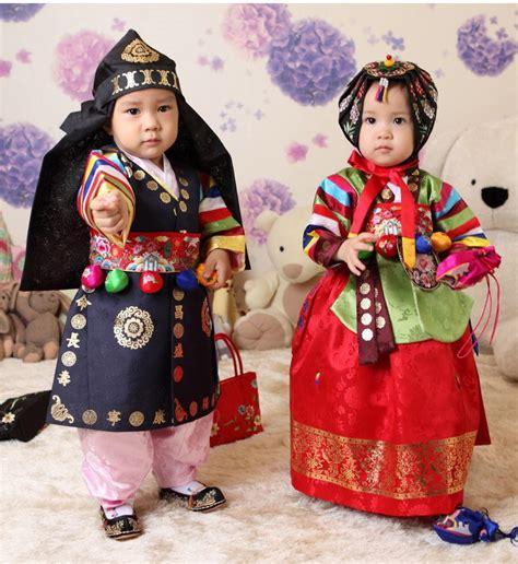 Pakaian Anak Anak Pakaian Tradisional Korea Hanbok Cepat Belajar Korea
