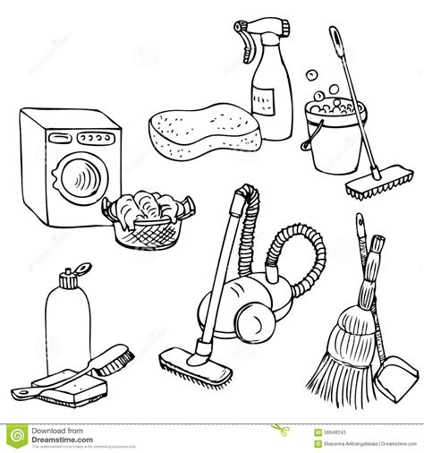 how to use doodle kit cleaning tools coloring coloring pages