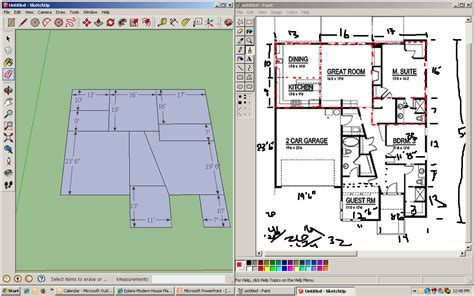 Sketchup House Plans Sketchup House Plan Sketchup Mr Drew S Sketchup 3d Floor Plan Sketchup 3d Modern House Plans