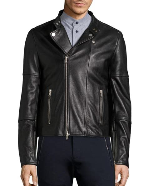 Diesel Dz4291 Gold Leather diesel black gold sleeve leather moto jacket in black for lyst