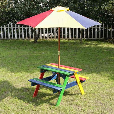 kids picnic bench  parasol home garden furniture