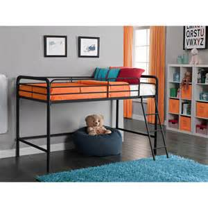 junior metal loft bed black walmart