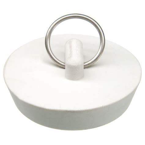 kitchen sink stopper 1 3 4 in rubber drain stopper in white 1 per card danco