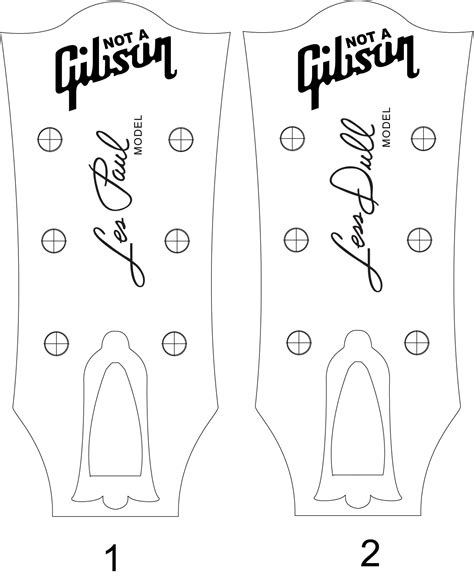 gibson les paul headstock template les paul headstock template pdf cerca con
