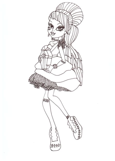 free printable monster high coloring pages frankie sweet