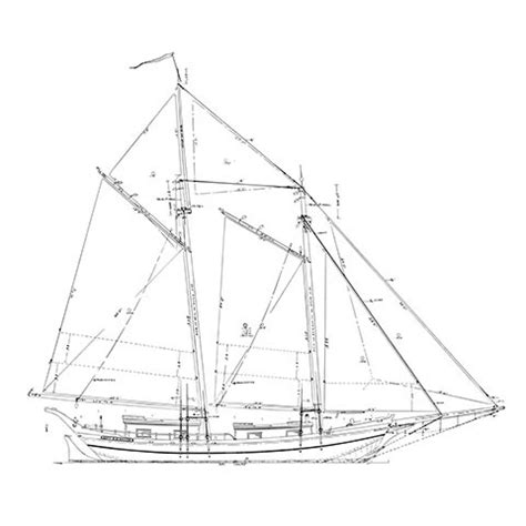 scow plans 45 scow schooner mystic seaport ships plans