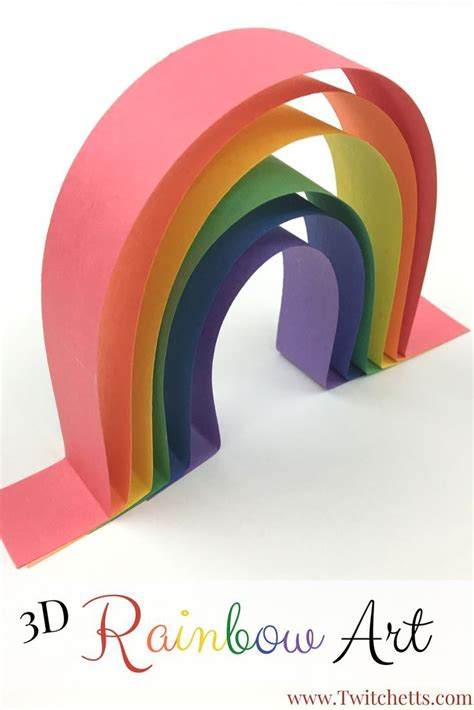3d Construction Paper Crafts - construction paper crafts for 3d rainbow
