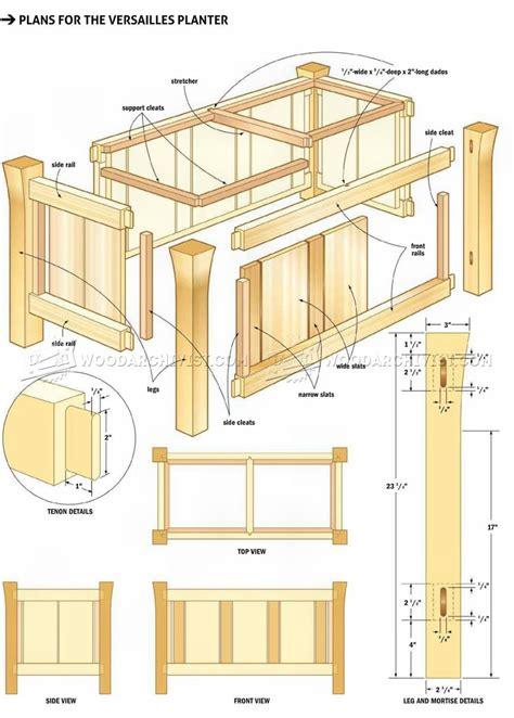 planter boxes plans versailles planter plans woodarchivist