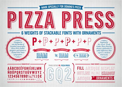 Domino Pizza Font | brand new new custom type family for domino s pizza by