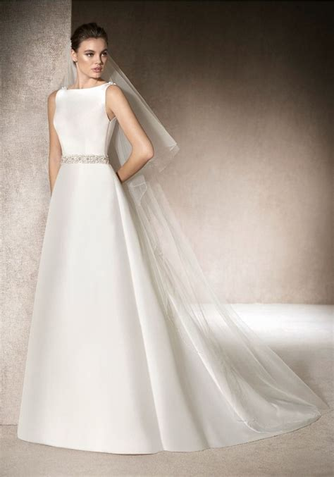 boat wedding dress st patrick a line wedding dress in mikado with a boat