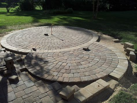 Circular Paver Patio Circular Paver Patio Modern Patio Minneapolis By Barrett Lawn Care