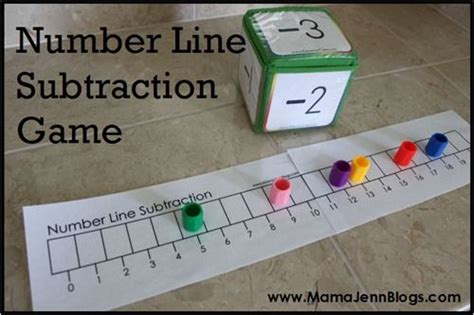 Liena Gamis dice to play using a number line we a