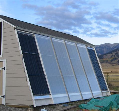house heating solar shed collectors