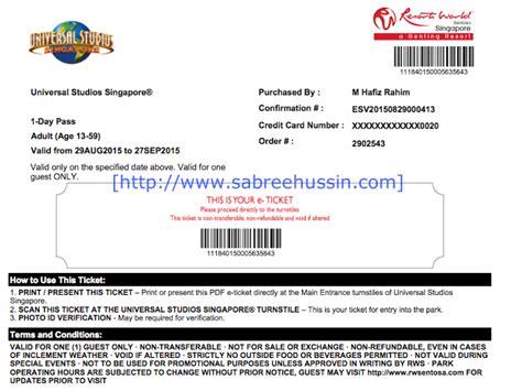 Tiket Universal Studio Singapore Tiket Fisik Uss cara dapatkan tiket masuk ke universal studios singapore dengan harga murah