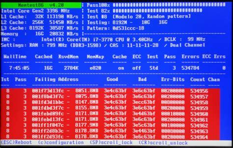 test ram windows 7 ram test with memtest86 windows 7 help forums