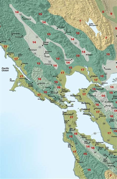 sunset garden zones sunset climate zones san francisco bay area and inland