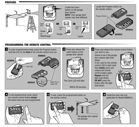 How To Program Garage Door Openers Liftmaster 895max Security 2 0 3 Button Garage Door Remote