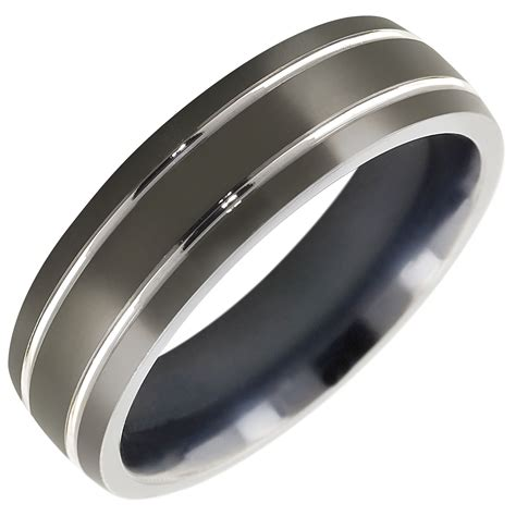 comfort wedding bands mens comfort fit wedding band in titanium 7mm