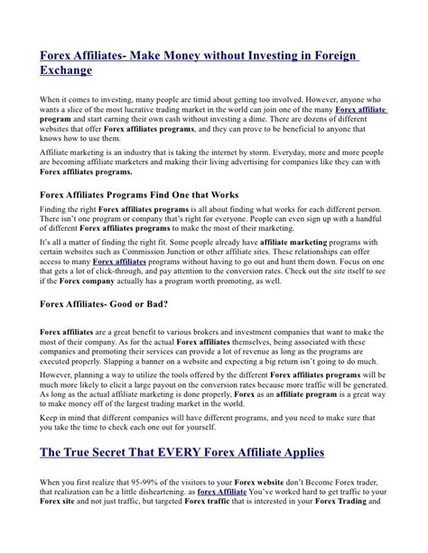 affiliate program terms and conditions template forex affiliate agreement