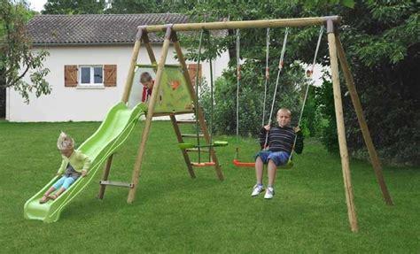 altalena e scivolo da giardino set giochi giardino legno 2 altalene cavalluccio