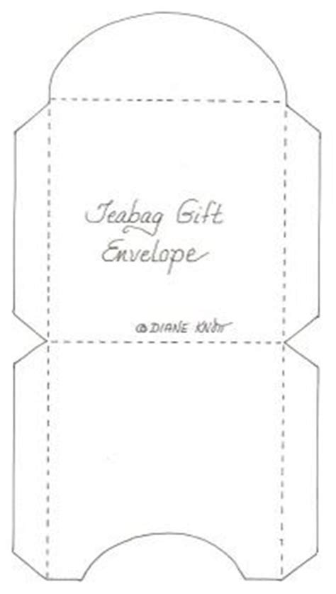 tea bag card template create cool envelopes with these free templates colored